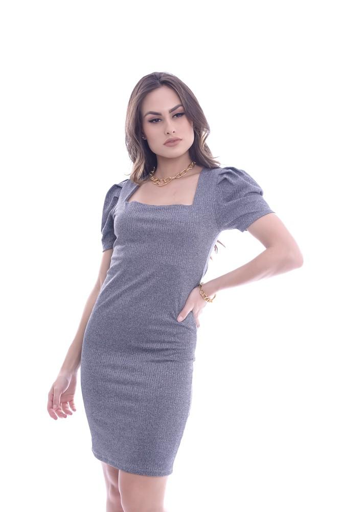 Vestido Canelado Curto - Lamar