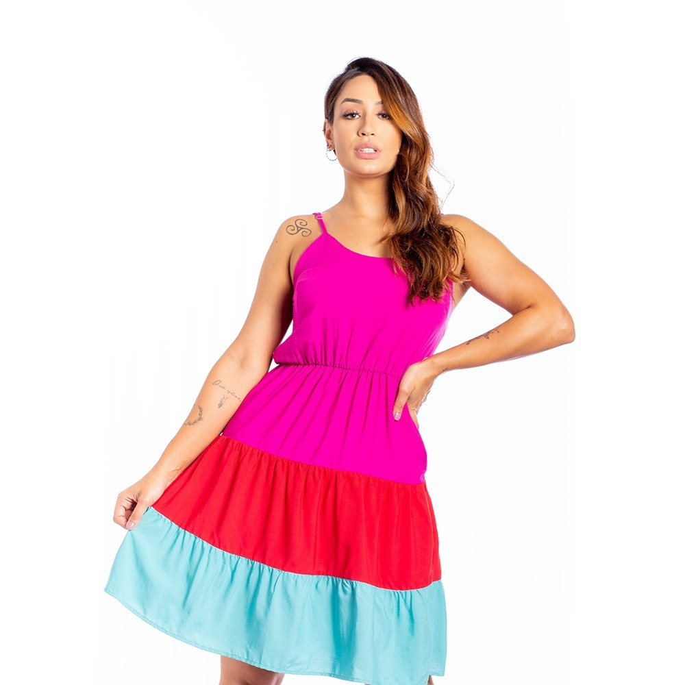 Vestido Curto 3 Cores de Alcinha - Spring