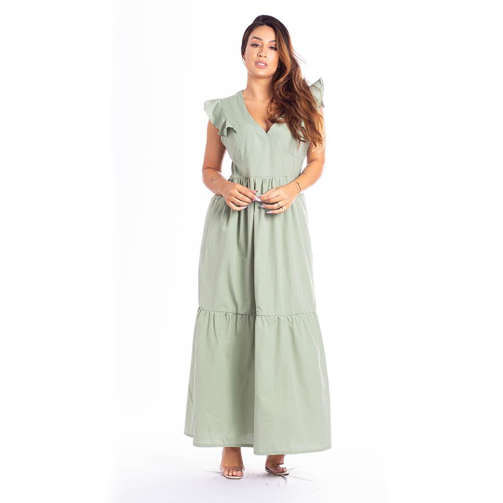 Vestido Longo c/ Babados - 30077Oliva