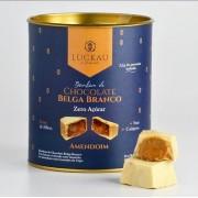 BOMBOM DE CHOCOLATE BELGA BRANCO ZERO AÇÚCAR - AMENDOIM