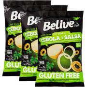 Kit Snack Cebola e Salsa 35g - Belive 3 unidades de 35g