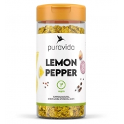PURAVIDA LEMON PEPPER TEMPERO NATURAL SABOR LIMÃO E PIMENTA.  130G