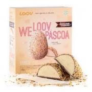 LOOV Ovo de Páscoa Vegano Branco Zero Açúcar , Zero Gúten 250g - Chocolife