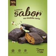 Pão de Mel Sem Glúten, Zero Açúcar, Sem Lactose, Com Chocolate 70% - 100g