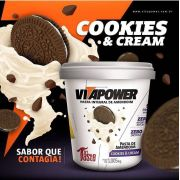 Pasta de Amendoim Cookies & Cream (1kg) - Vitapower