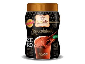 King Mix Achocolatado Pó Zero Açúcar, Sem Glúten, Zero Lactose e Vegano  210g