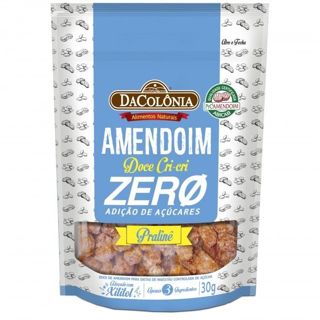 DA COLONIA Amendoim Doce Crocante Zero Cri cri Zero Açúcares - 30G