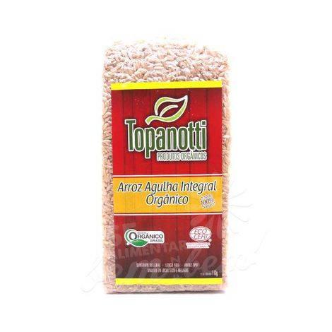 Arroz Agulha Integral Orgânico 1kg Topanotti