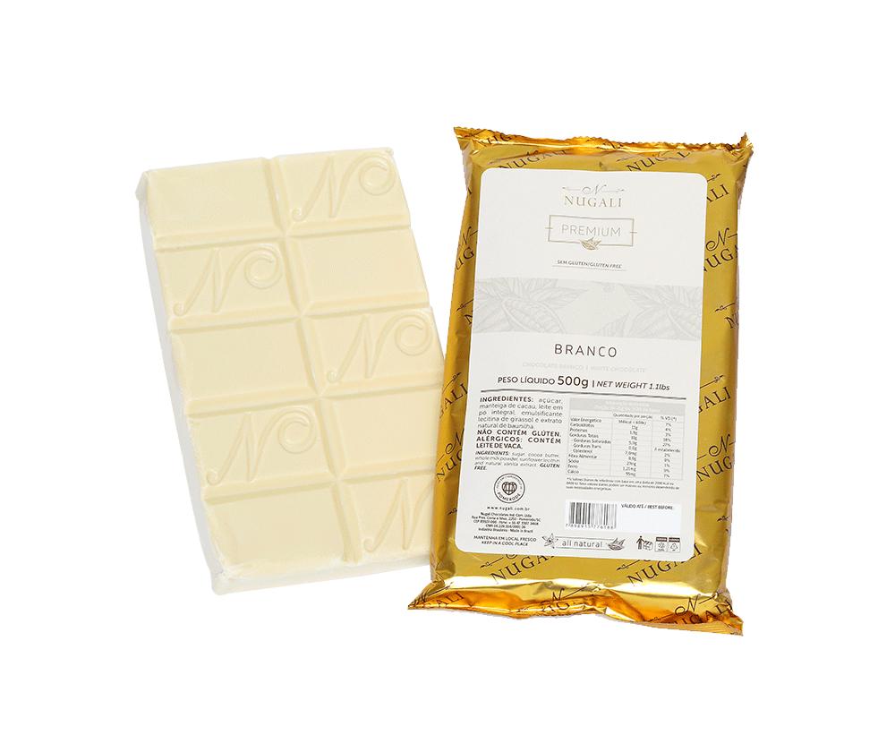 NUGALI Barra Chocolate Branco - 500g