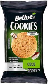 Belive Cookie Coco Zero Açúcar sem Glúten sem Lactose 34g