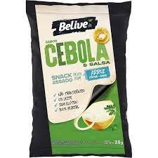 Belive Kit Snack Cebola e Salsa 35g - 3 unidades de 35g