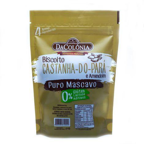 Biscoito de Castanha do Pará e Amendoim 100g Dacolônia