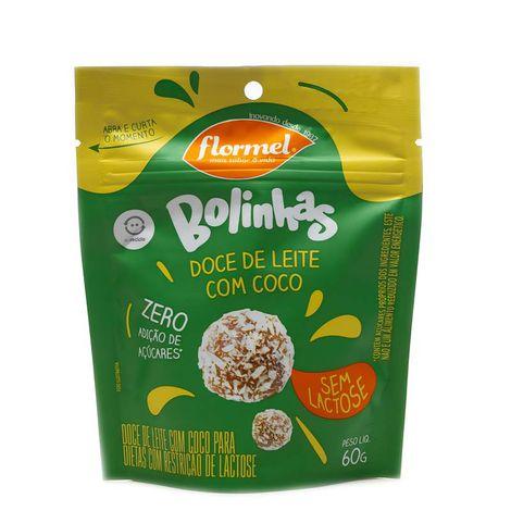 Bolinha de Doce de Leite c/ coco Zero Lactose 60g Flormel