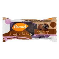 Bombom Flormel Recheado Chocolate Cremoso Zero Adição de Açúcares 37,5g contém 3 unidades de 12,5g