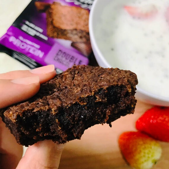 BROWNIE PROTEIN DOUBLE CHOCOLATE BELIVE UNIDADE