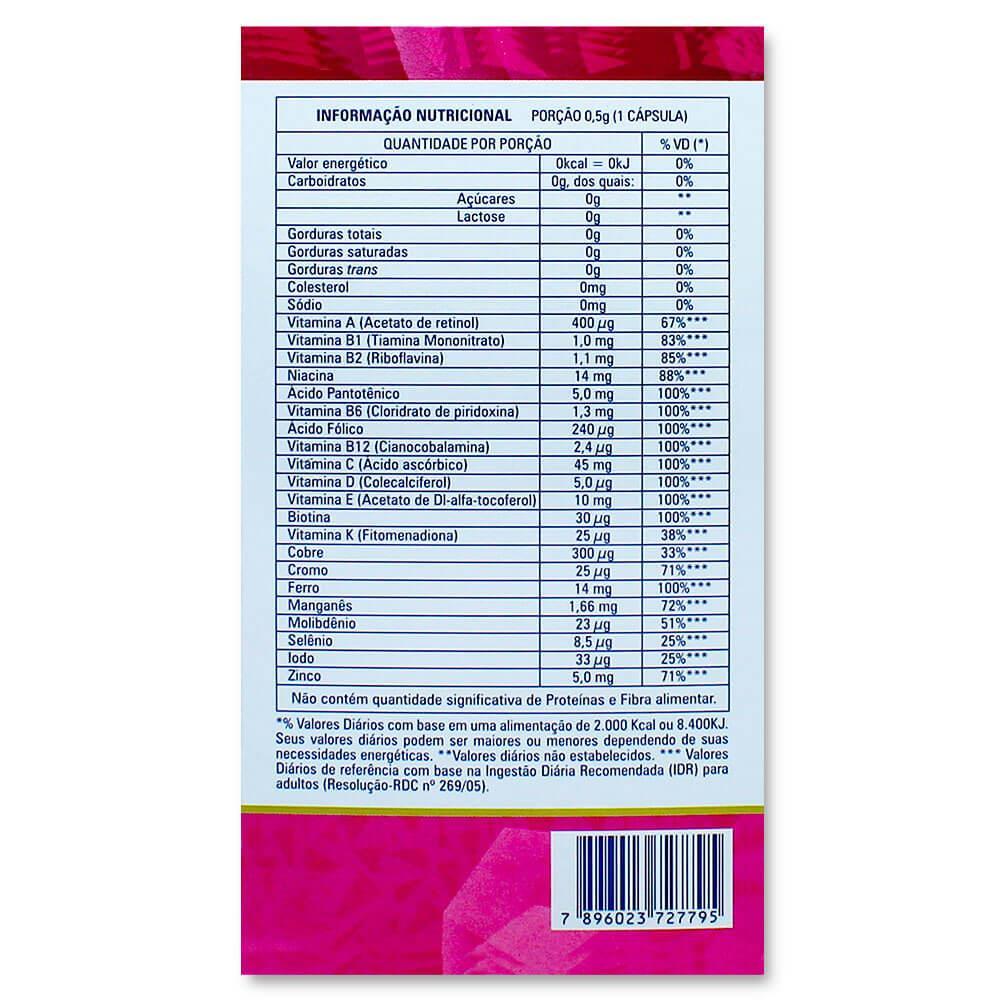 CATARINENSE POLIVITAMÍNICO NUTRIÇÃO  MULHER MULTI  COM 60 CÁPSULAS