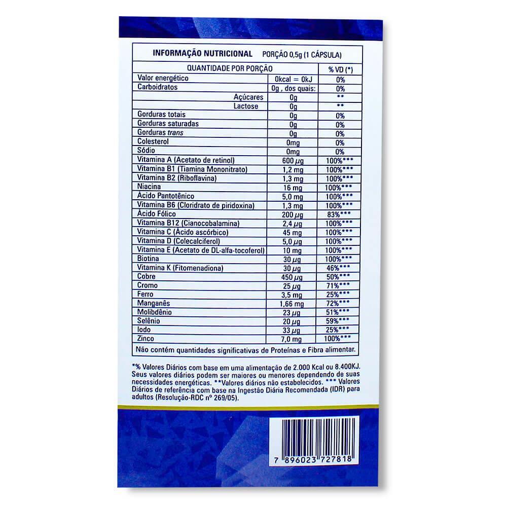 CATARINENSE POLIVITAMÍNICO NUTRIÇÃO MULTI HOMEM COM 60 CÁPSULAS