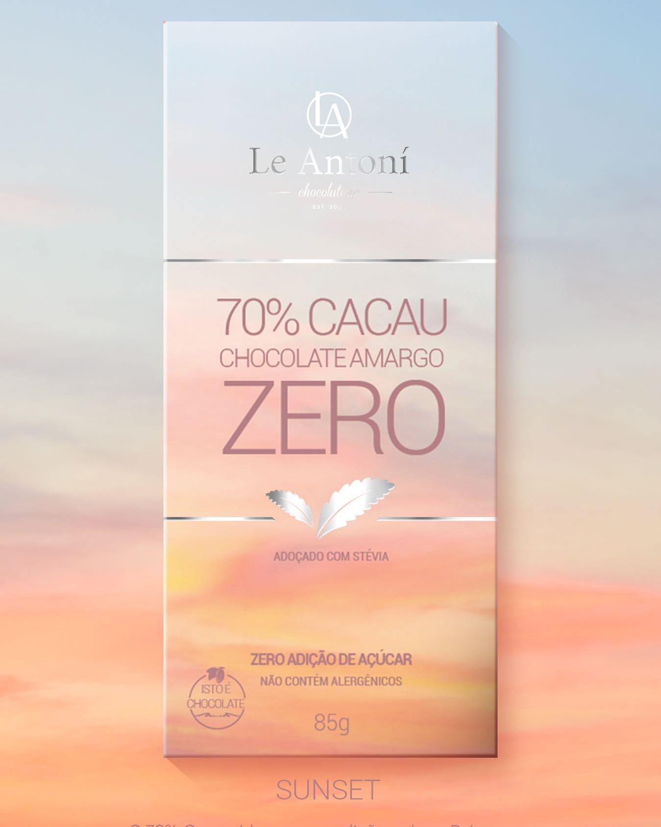 Chocolate 70% Cacau ZERO ACÚCAR  - 85g -  Le Antoní