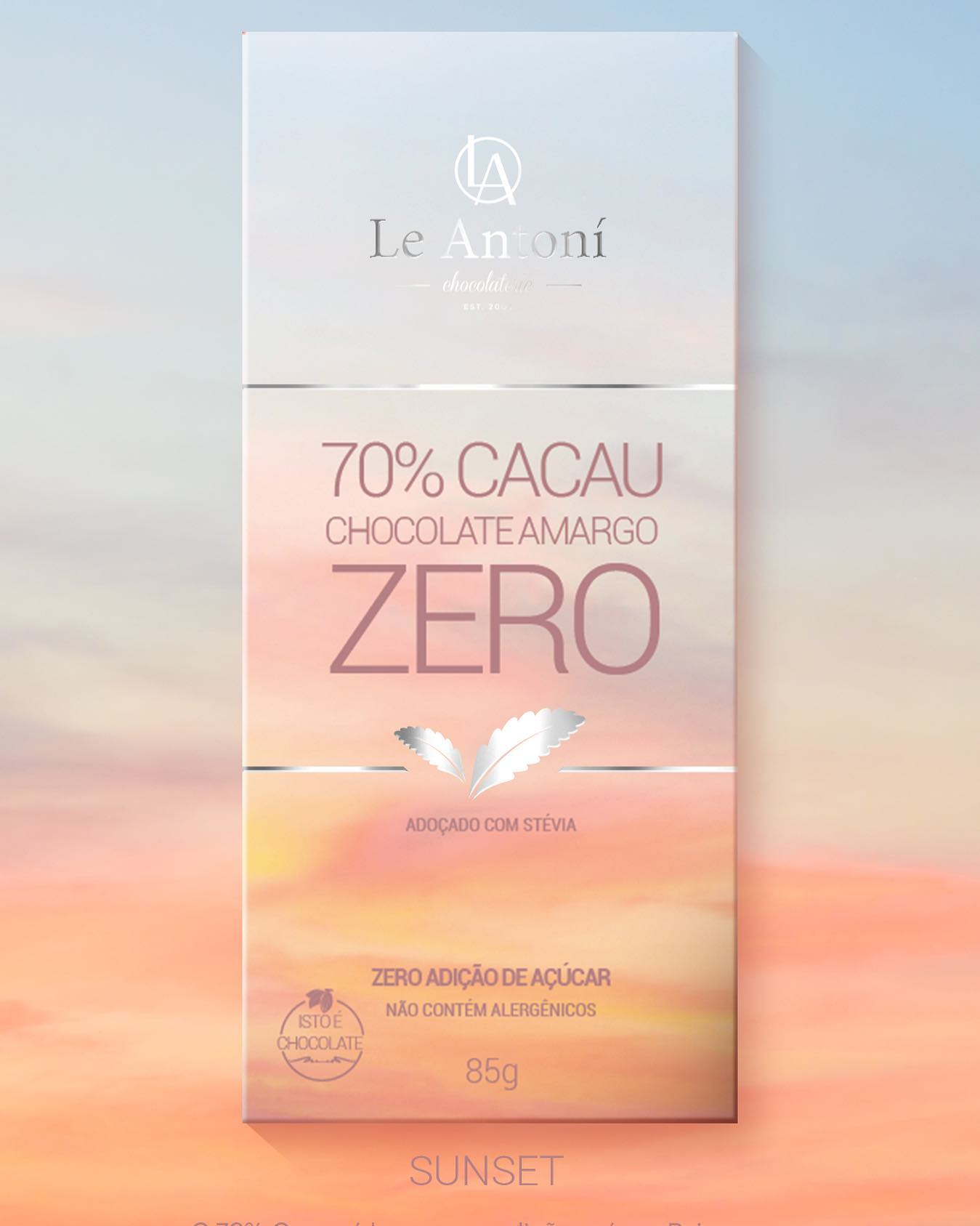 LA ANTONI Chocolate 70% Cacau ZERO ACÚCAR  - 85g