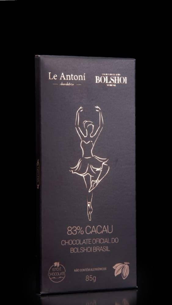 Chocolate 83% Cacau Oficial Bolshoi Brasil  - 85g -  Le Antoní