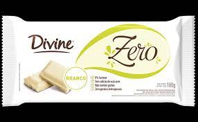 Divine Barra de Chocolate Branco Zero 100g