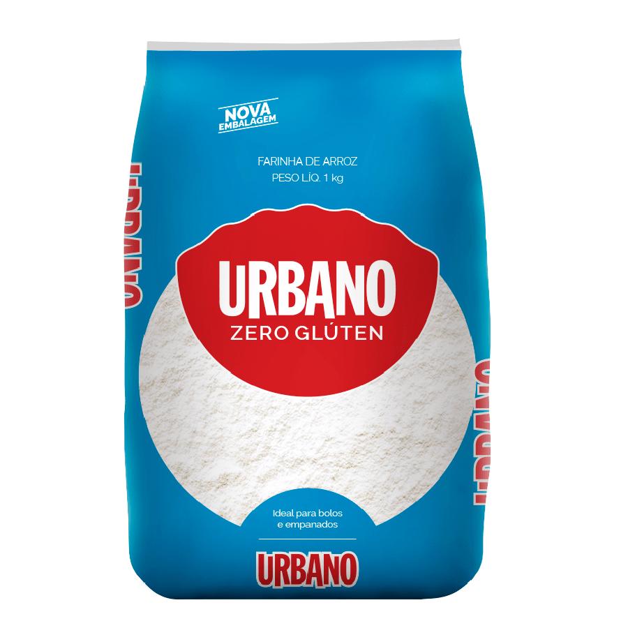 URBANO Farinha de Arroz sem Glúten Pacote 1kg