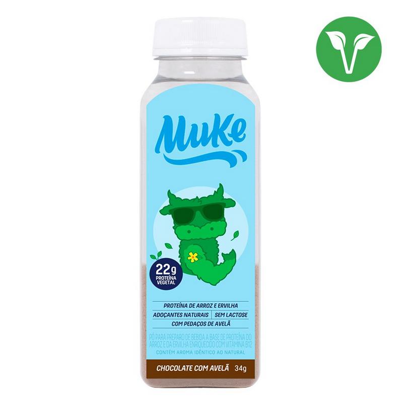 Garrafinha Proteina Vegetal Chocolate Avela Muke 34g - +Mu
