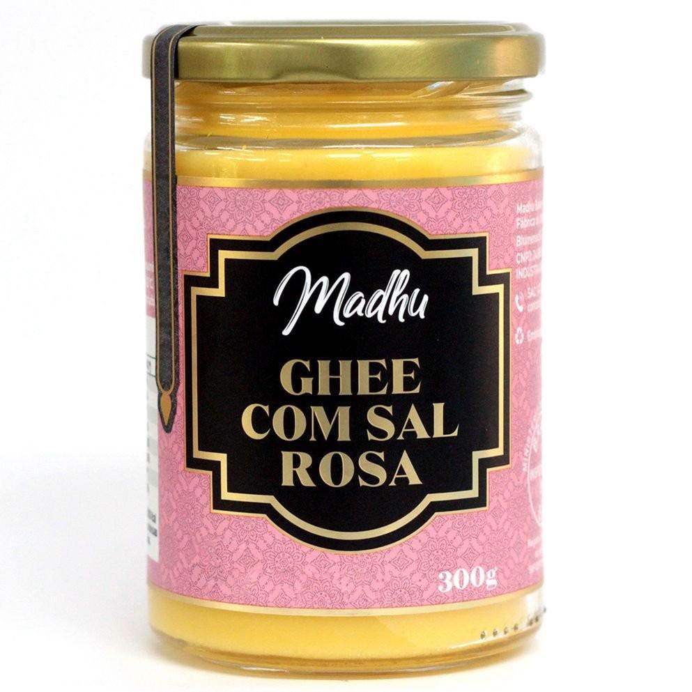 Manteiga Ghee com Sal Rosa do Himalaya 300g