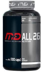 MD MUSCLE DEFENITION All 26 Multivitaminico (100 caps)