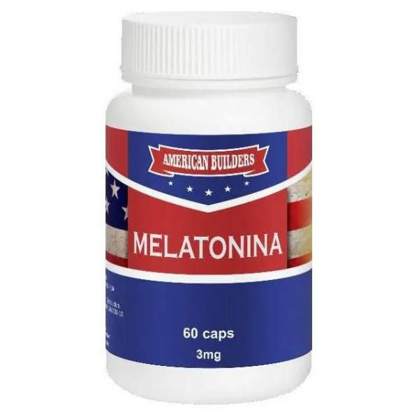 Melatonina 3mg American Builders - 60 caps