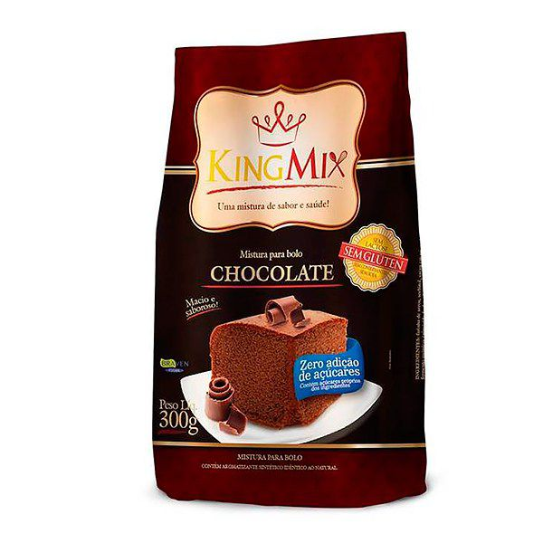 KINGMIX Mistura para Bolo Sem Glúten Zero Açúcar 300g -