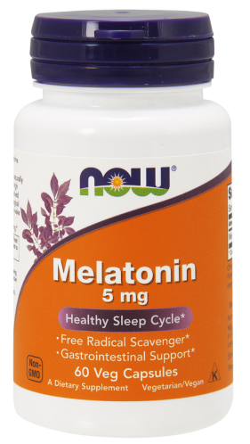 Now Foods, Melatonina 5 mg - 60 Cápsulas Vegetarianas