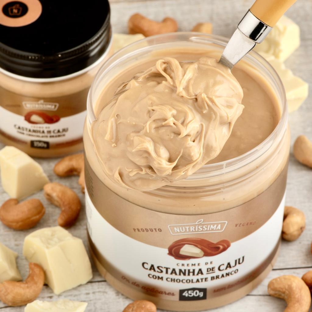 Nutrissima Creme de Castanha de Caju Com Chocolate Branco - 450g -