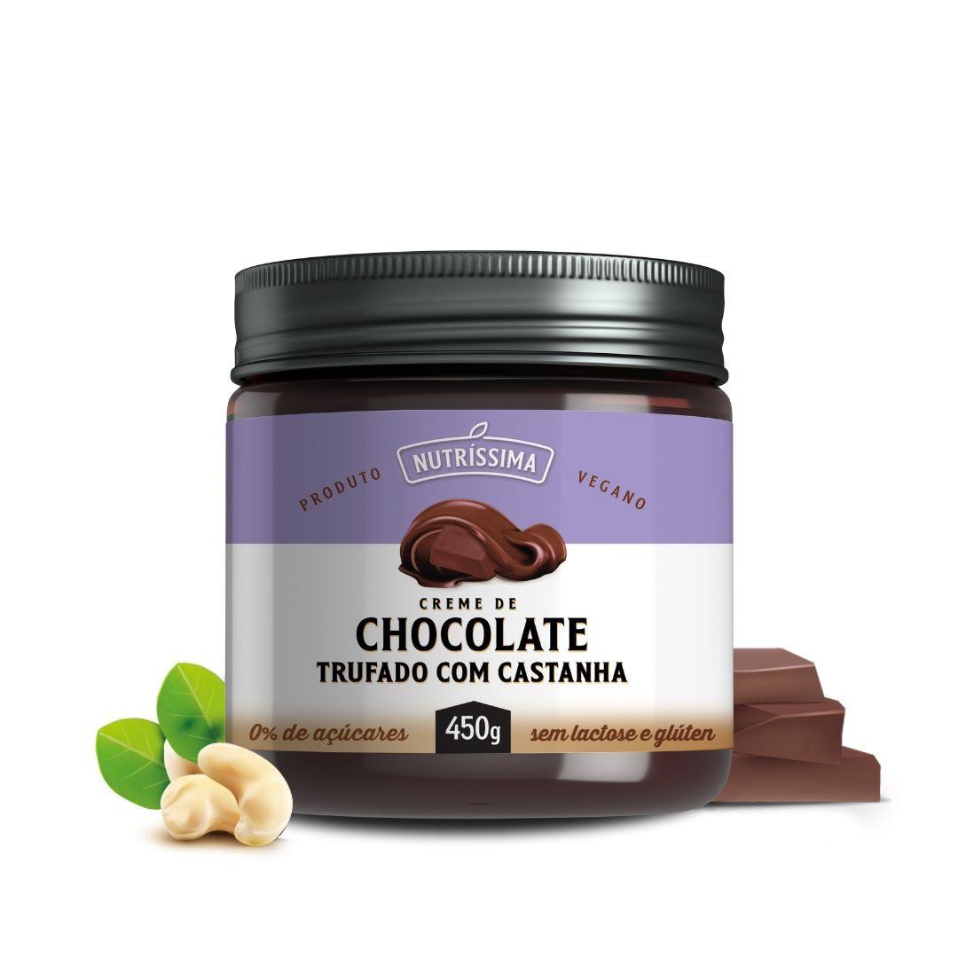 NUTRÍSSIMA - CREME DE CHOCOLATE TRUFADO COM CASTANHA 450G