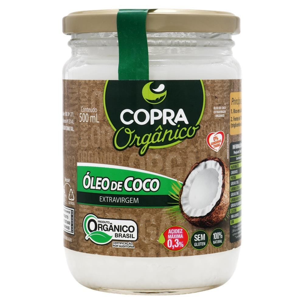 Óleo De Coco Organico Copra 500ML