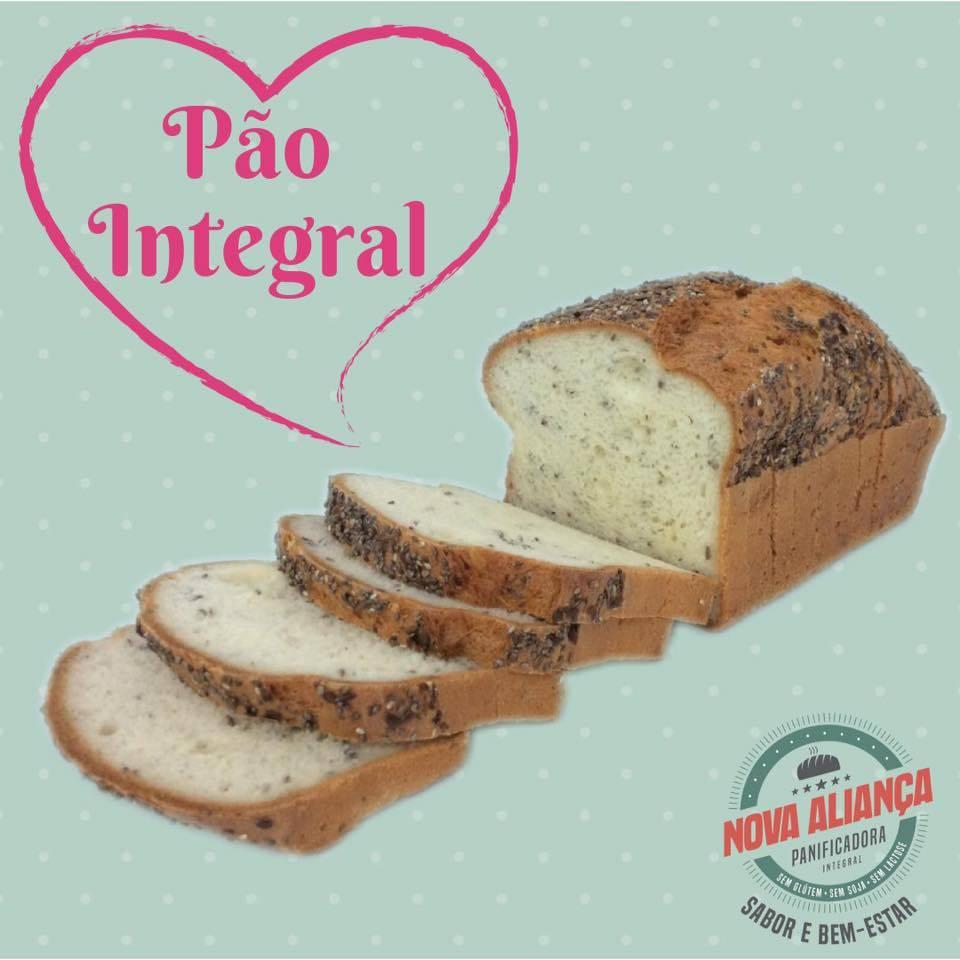 Pão integral SEM glúten e SEM lactose Nova Aliança-(envio restrito  Guaramirim e Jaragua do Sul -somente quintas feiras)