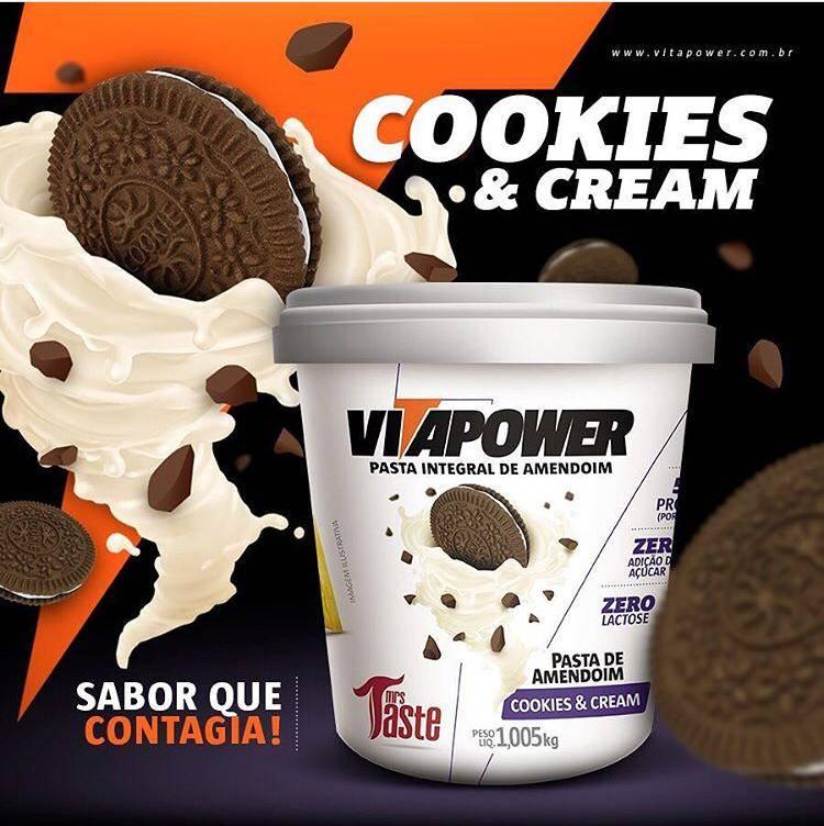 Vitapower Pasta de Amendoim Cookies & Cream (1kg) -