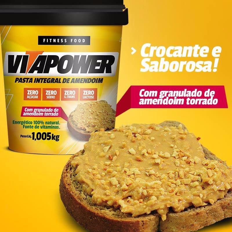 VITAPOWER Pasta de Amendoim Integral com Granulado - 1,005kg