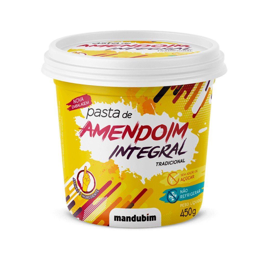 Pasta de Amendoim Tradicional Mandubim - 450g