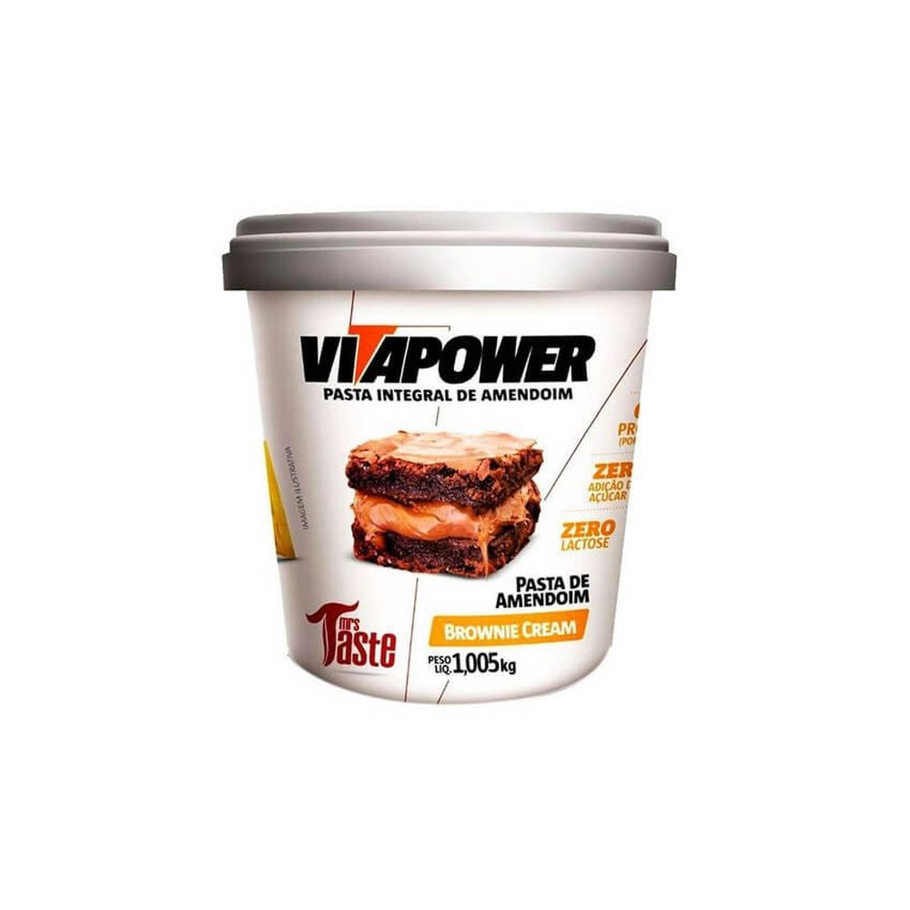 Pasta Integral de Amendoim Brownie Cream 1,005KG