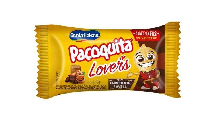 SANTA HELENA PAÇOQUITA LOVER'S SABOR CHOCOLATE E AVELÃ UNIDADE DE