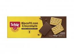 Schar  Biscoito Biscotti Con Cioccolato Sem Glúten150g