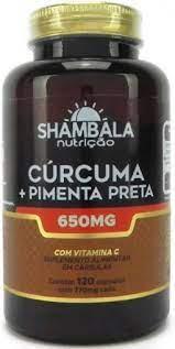 Shambala Cúrcuma Com Pimenta Preta 650mg  120 Cápsulas