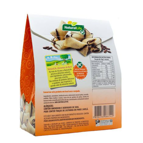 Snack Bites Free Minis Funcional s/ Glúten 70g Natural Life