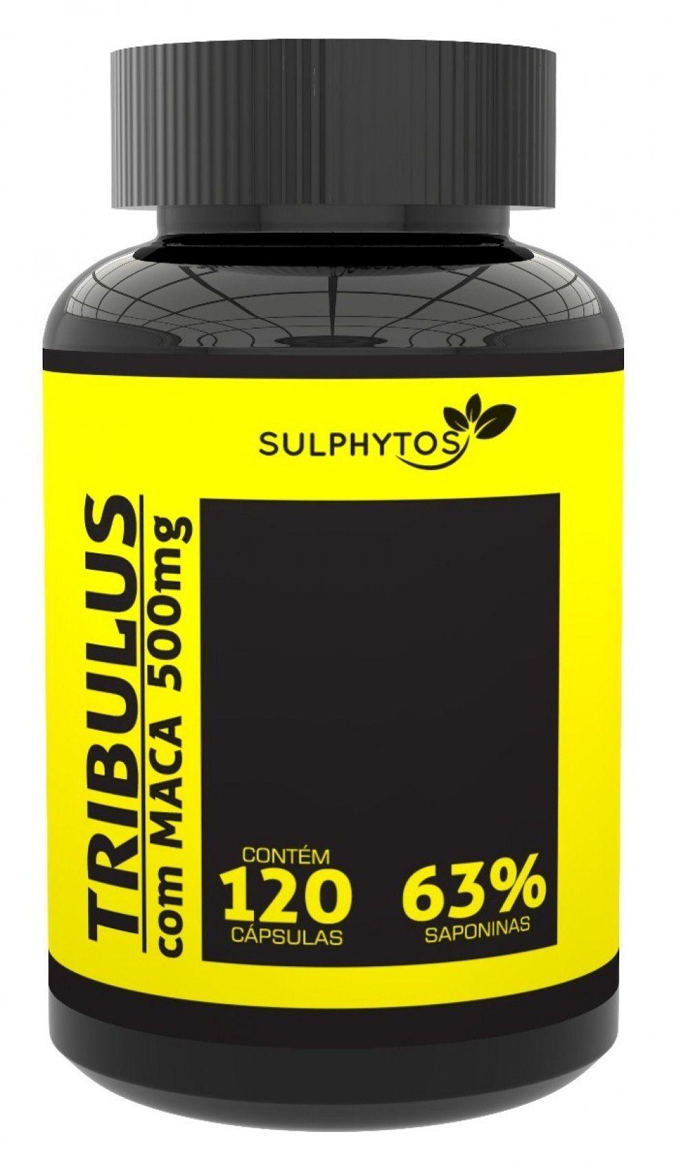 SULPHYTOS Tribulus com Maca Peruana 63% Saponinas 500mg - 120 caps