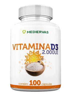 Vitamina D3 2.000ui 100 Cápsulas - Mediervas