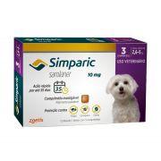 Antipulgas e Carrapatos Simparic para Cães de 2,5 Até 5kg