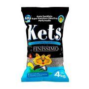 Areia Granulada Finíssimo Kets para Gatos 4 kg