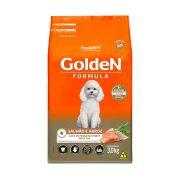 Ração Golden Cães Adultos Mini Bits sabor Salmão e Arroz 3kg