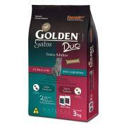 Ração Golden Duo Gatos Adultos - Salmão e Cordeiro 3kg
